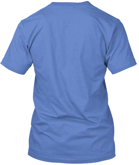 Cycle Around Front Heathered Royal  T-Shirt Back