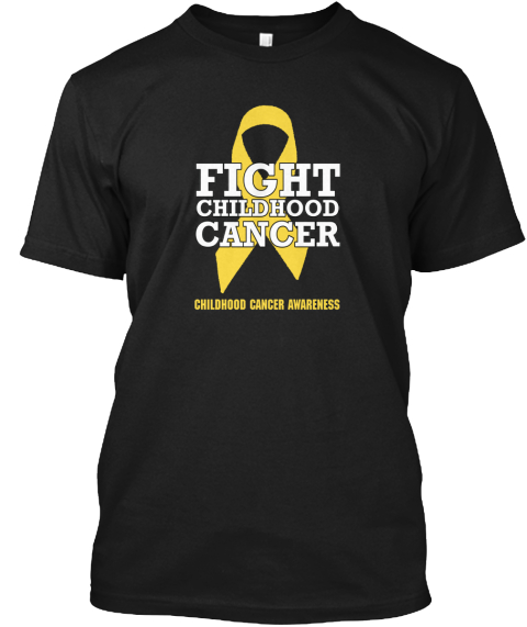 Childhood Cancer Awareness T Shirt Black T-Shirt Front