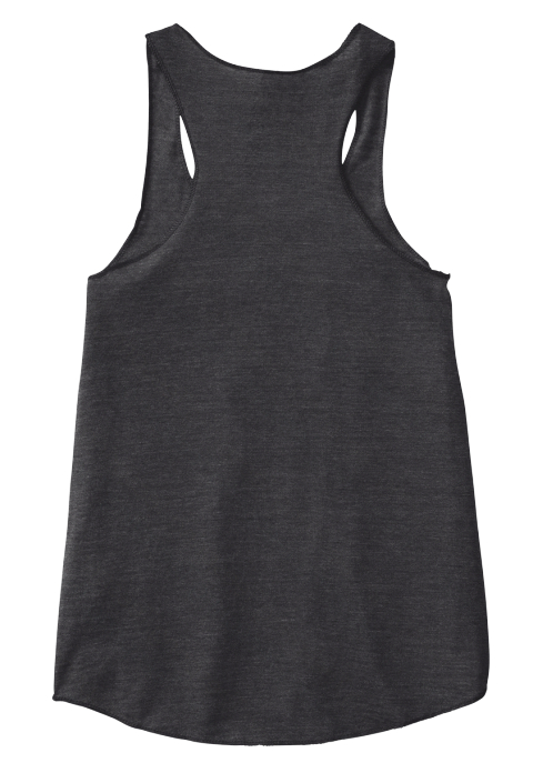 Ladies Life Liberty Laughter Eco Black Women's Tank Top Back