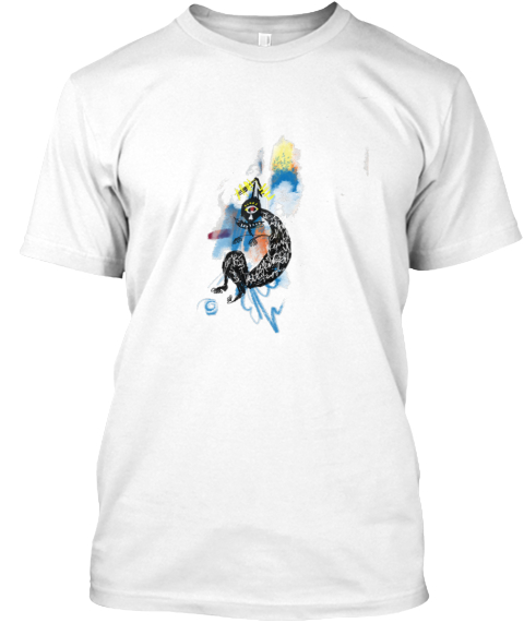 (100 Sold)   Dreamer White T-Shirt Front