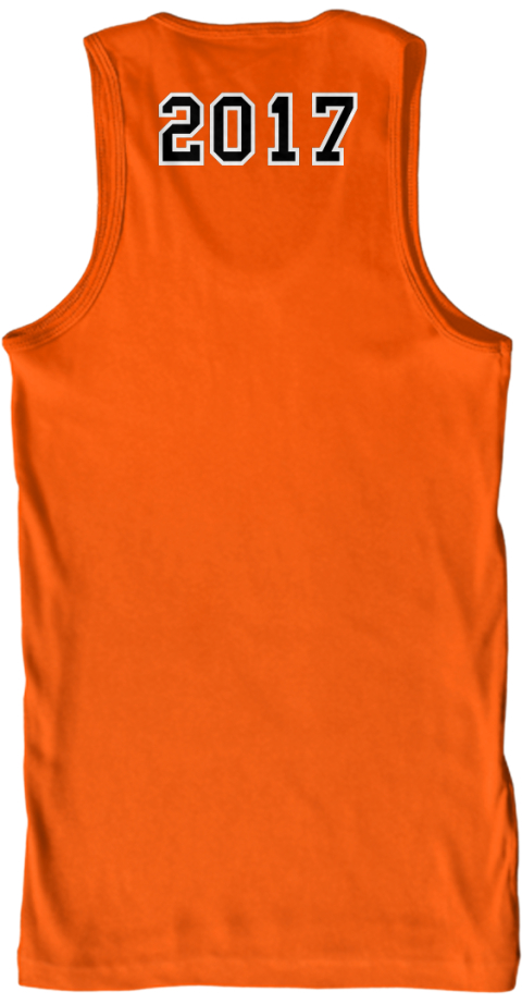 2017  Orange Tank Top Back