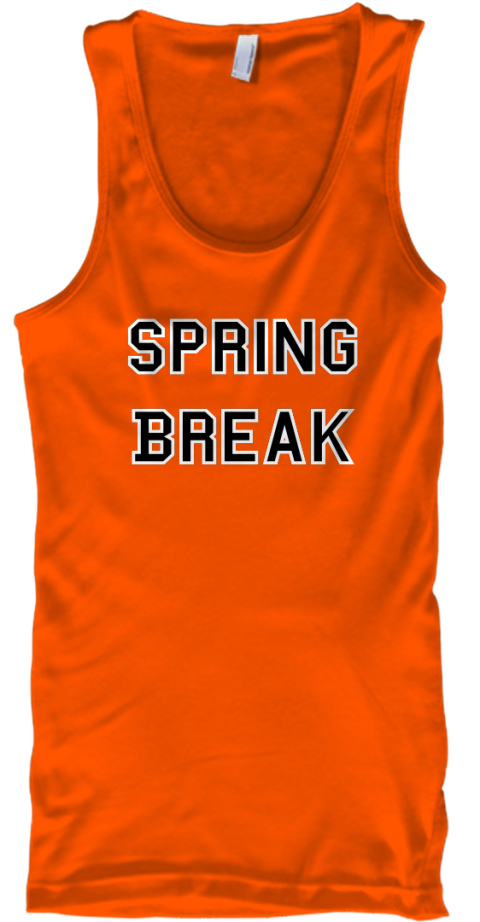 Spring   Break   Orange Tank Top Front