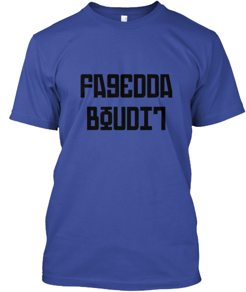 Fagedda Boudit Deep Royal T-Shirt Front
