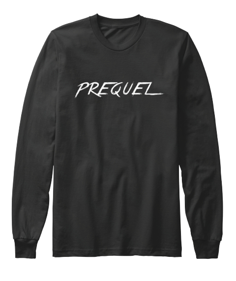 Prequel Long Sleeve Black Long Sleeve T-Shirt Front