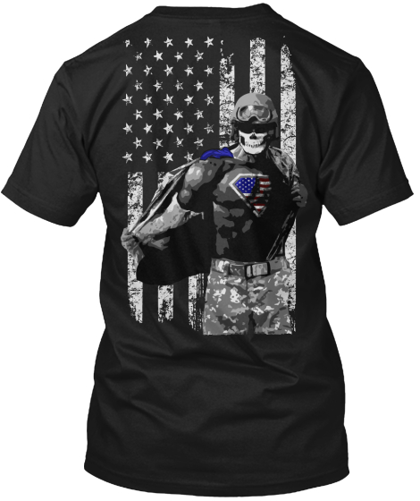Real American Superheroes! T-Shirt Back