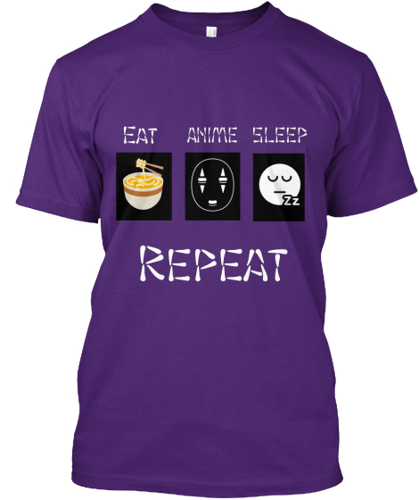 Anime Sleep Eat Repeat T-Shirt Front