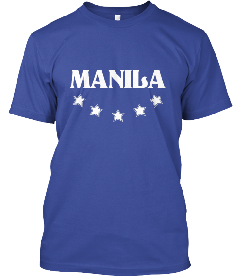 Manila Deep Royal T-Shirt Front