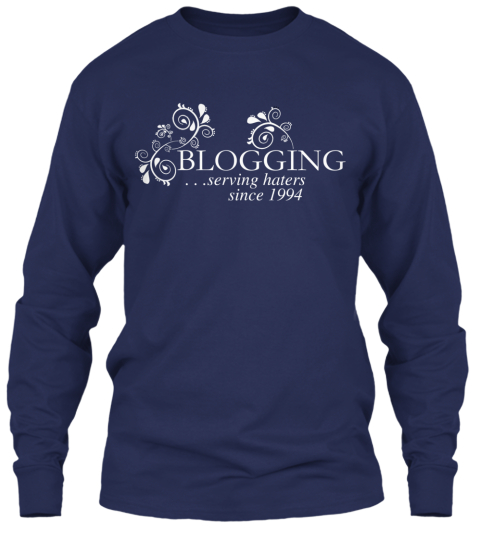 Blogging Shirt Of The Month: September Navy Long Sleeve T-Shirt Front