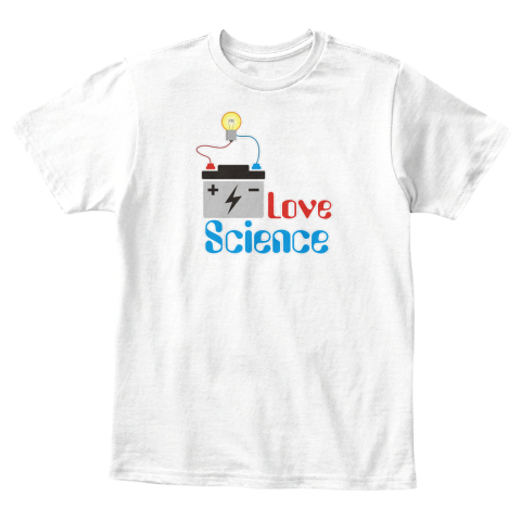 Love Science Kids White T-Shirt Front