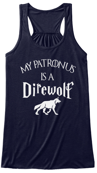 My Patronus Is A Direwolf Women's Tank Top Front