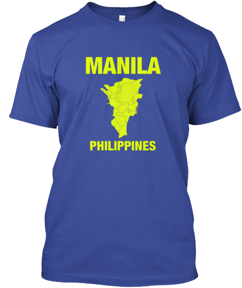 Manila Philippines Deep Royal T-Shirt Front
