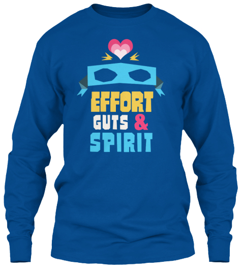 Effort Guts&Spirit Royal Long Sleeve T-Shirt Front