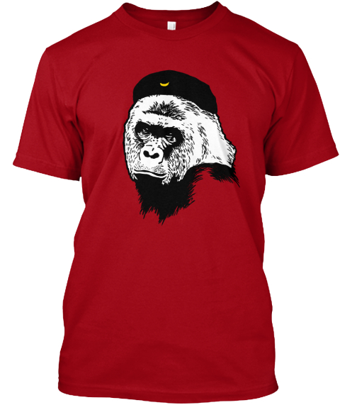 Harambe Guevara T Shirt Deep Red T-Shirt Front