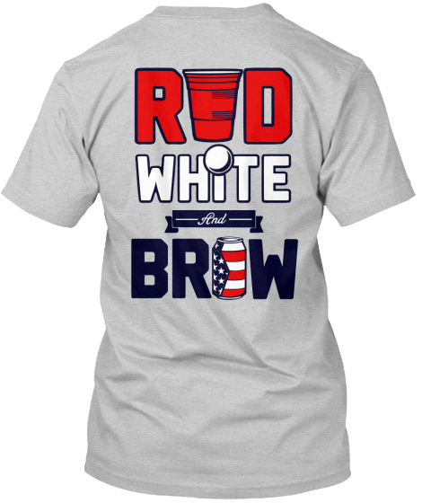 Red White And Brew T-Shirt Back