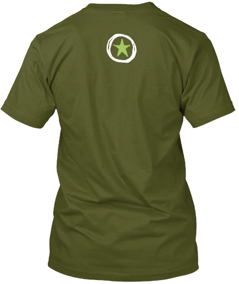 Sketchnote Army T Shirts And Sweatshirts Olive T-Shirt Back