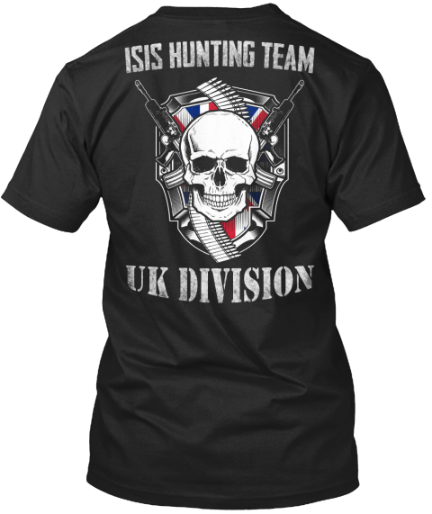 Isis Hunting Team Uk Division Black T-Shirt Back