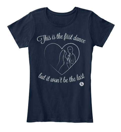 Corey Smith   First Dance  New Navy Women's T-Shirt Front