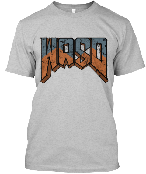 Wasd   Knee Deep In The Shirt Light Heather Grey  T-Shirt Front