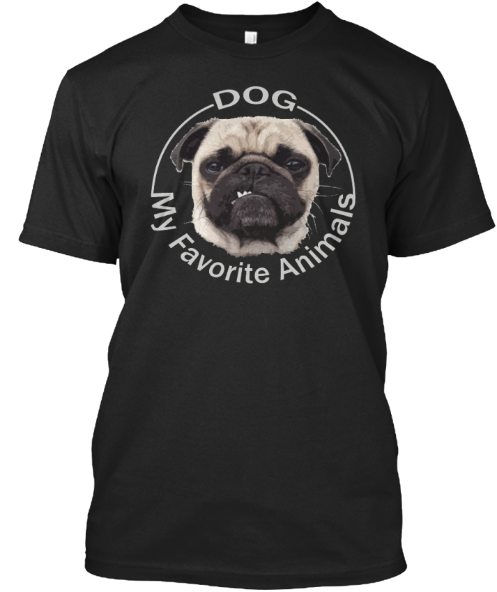 Pugs-Lovely-Dog-My-Favourite-Animals-Standard-Unisex-T-Shirt