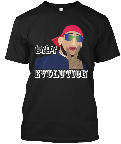 Hip Hop Evolution Limited Edition  Black T-Shirt Front