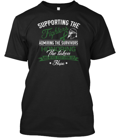 Liver Cancer Awareness! Black T-Shirt Front