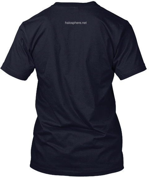 Halosphere.Net Navy T-Shirt Back