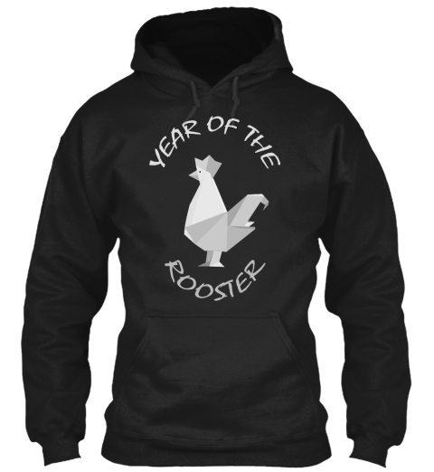 Year Of The Rooster Black T-Shirt Front