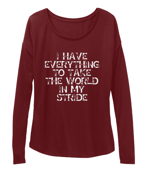 Take The Word In Your Stride! Long Sleeve T-Shirt Front