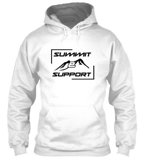 Summit And Support Charity Climb Arctic White Sweatshirt Front