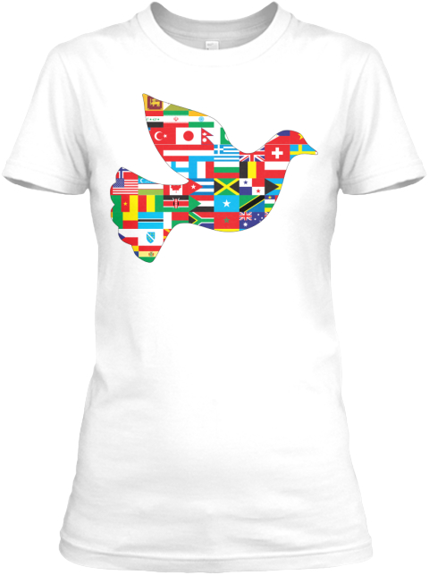 International Dove Of Peace White Women's T-Shirt Front
