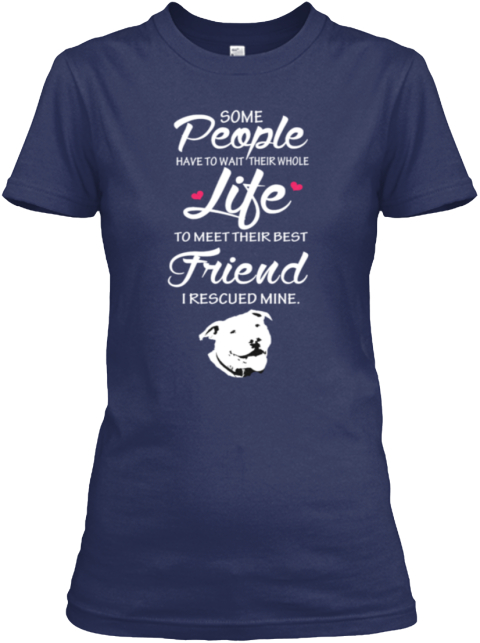 Rescued My Best Friend Navy T-Shirt Front