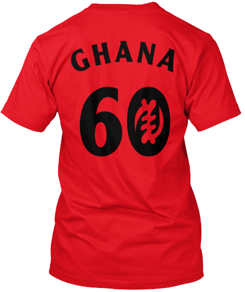 Ghana 60 Red T-Shirt Back