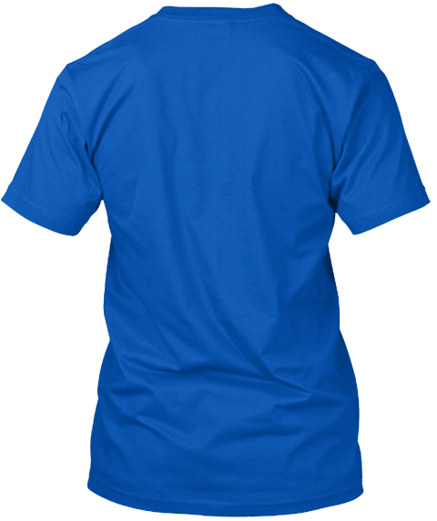 Free To Move Royal T-Shirt Back