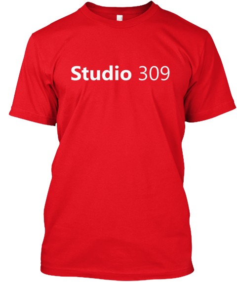 Studio Tee (Multiple Colors) Red T-Shirt Front