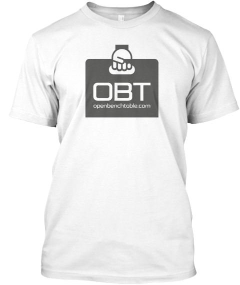 Obt Openbenchtable.Com White T-Shirt Front