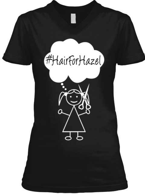 Limited Edition #Hair For Hazel Design Black T-Shirt Front