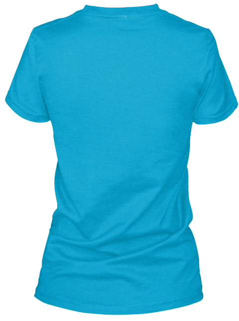 Limited Edition #Hair For Hazel Design Turquoise T-Shirt Back