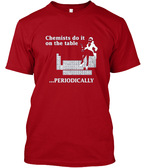Funny Chemists T Shirt Deep Red T-Shirt Front