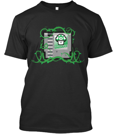 Vinesauce  Black T-Shirt Front