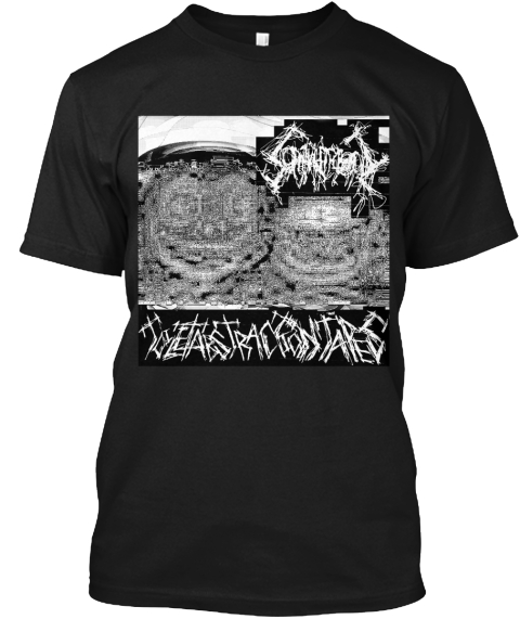 Toilet Abstraction Tapes B+W Black T-Shirt Front