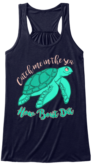 Limited Edition   Sea Turtle  Women's Tank Top Front