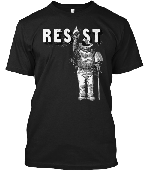 Smokey Resist   Limited Edition Black T-Shirt Front
