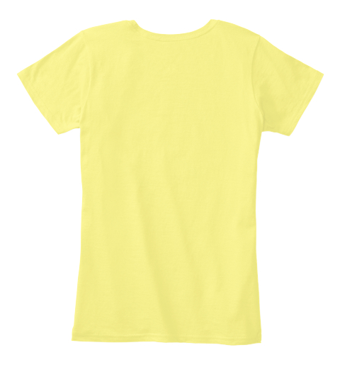 Hip Hop Music For Mom Style T Shirt Lemon Yellow Women's T-Shirt Back
