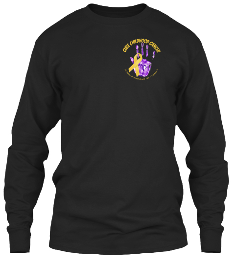 Cure Childhood Cancer Remembering Jesse Black Long Sleeve T-Shirt Front