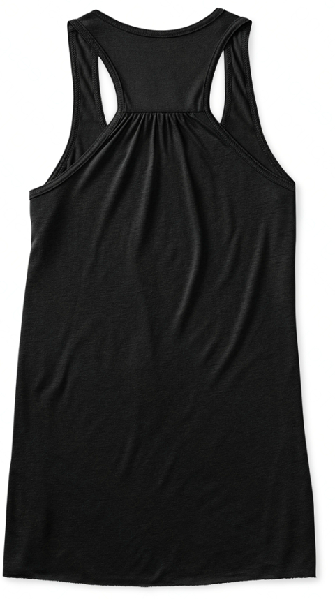 Let's Go Somewhere Nice Black Women's Tank Top Back