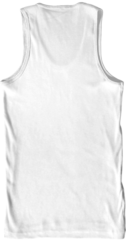 585 Music Scene Tanktop White Tank Top Back