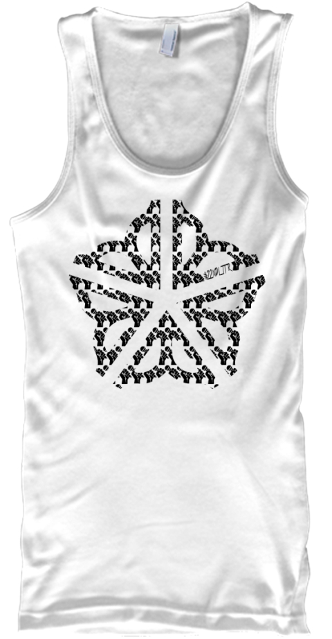 585 Music Scene Tanktop White Tank Top Front