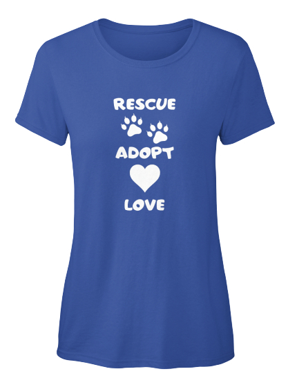 Rescue Adopt Love Women's T-Shirt Front