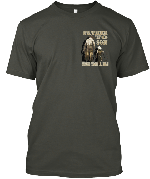Father To Son Tee Hoodie Or Mug Smoke Gray T-Shirt Front