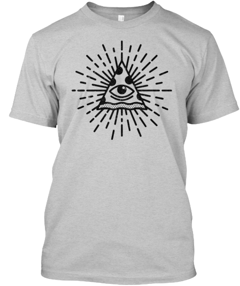 The All Seeing Pizza T Shirt  T-Shirt Front